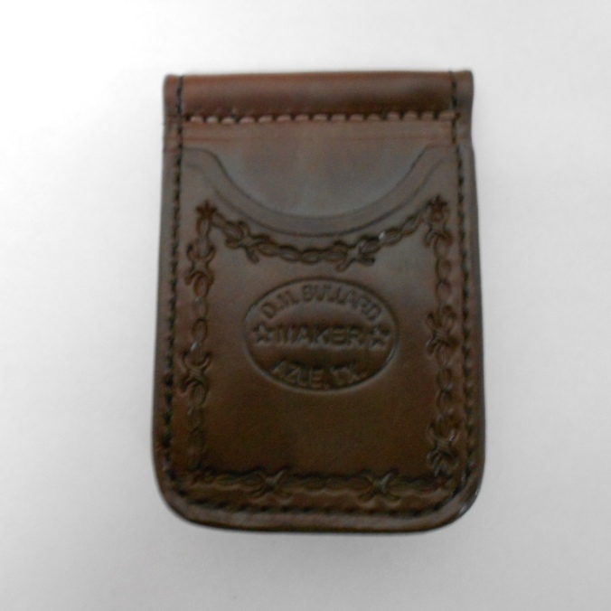 10277 D.M. Bullard 4 Pocket Barbed Wire Mahogany Cowboy Wallet